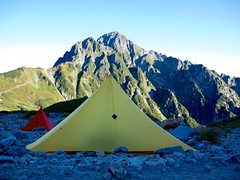 "Mt.Tsurugidake and LOCUS GEAR shelters • <a style=""font-size:0.8em;"" href=""http://www.flickr.com/photos/40286809@N02/8038236724/"" target=""_blank"">View on Flickr</a>"