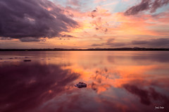 Red Sunset (Legi.) Tags: sunset red espaa seascape reflection clouds landscape atardecer spain rojo nikon europa europe salinas nubes 1855mm 1855 reflejos torrevieja josesoto legi d5100