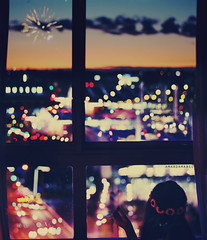 Day 364/365 ~ Look into the Air (Amanda Mabel) Tags: road city light sunset portrait sky selfportrait colour window glass girl beautiful silhouette skyline night clouds vintage buildings hair lights evening back twilight frost day shadows hand view heart stitch bright bokeh dusk streetlights magic horizon citylife firework garland lensflare ethereal sunflower faceless 365 unreal contemplation explosionsinthesky lookingoutthewindow 364 lookintotheair amandamabel amandamabelphotography