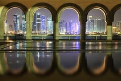Modern Vs Tradition (Jos5941) Tags: city electric skyline architecture construction couleurs arabic arabe electricity arabian electricite couleur doha qatar architectura angers arabes arabianpeninsula arabique arabicpeninsula josefernandez josfernandez cityofmosques arabomusulmane