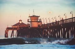 Waning Gibbous (pixelmama) Tags: california moon sunrise pier waves fishermen sandiego pacificocean splash moonset imperialbeach hss waninggibbous imperialbeachpier pixelmama sliderssunday variousslidingandotherstuff iblovinthispier