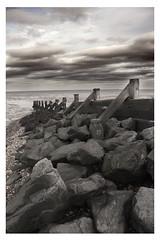 SeaScape (TinaTeens) Tags: wood sea seascape beach clouds coast kent rocks mud stones groyne defences isleofgrain