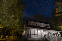 Chasing the Star Trails (JonathanStainton) Tags: light sky house ontario star long exposure trail muskoka windermere