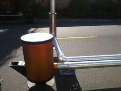 Zaug Rocket Mass Heater (Zaug Stoves) Tags: farmersmarket zaug yelm aquaponics thermalmass greenhouseheater rocketmassheater superefficientwoodstove