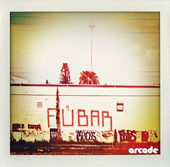 FUBAR (*Arcade) Tags: street sky beautiful vintage polaroid graffiti highway colorful vibrant streetphotography tags lightleaks roller fubar iphone broward hallandale bigletters iphoneography