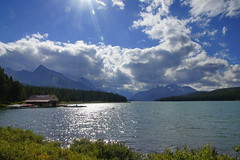 Canada; Maligne Lake (blacky_hs) Tags: park lake canada mountains berg river rockies see jasper rocky canadian fluss maligne