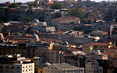 Galata Tower 51 (David OMalley) Tags: panorama tower stone skyline turkey ancient view fort watch istanbul panoramic medieval historic constantine empire historical strong strength tall fortification defensive defense beyoglu byzantine emperor watchtower galata constantinople