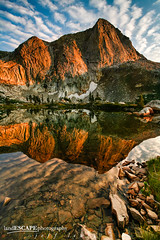 Radiation Inversion (landESCAPEphotography | jeff lewis) Tags: california travel sunset mountains reflection jeff nature water clouds sunrise canon mirror spring scenic lewis sierra backpacking 5d sequoia landescape alpenglow highsierra landescapephotography