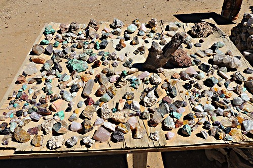 Semi Precious Stones Being Sold On Roadside