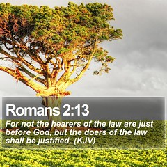 Daily Bible Verse - Romans 2:13 (daily-bible-verse) Tags: pray landscapes quotes christian praisegod dailybibleverse
