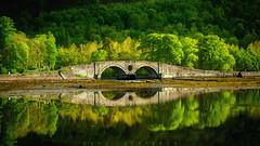 Inveraray Bridge (buddsnax) Tags: araybridge bridge archbridge scotland inveraraybridge inveraray loch lochfyne riveraray argyllandbute sunrise lowtide reflection mirror