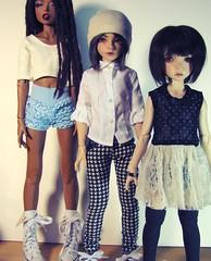 dollstown height differences (`singull) Tags: dollstowndeogi dollstownalina notdolllabbleucitron notdolllab dollstown bjd