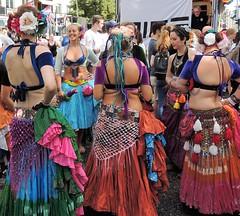 Tribal sisters on Stockholm pride (bokage) Tags: sweden stockholm bokage pride parade stockholmprideparade tribalsisters