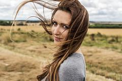 Windy Sunday (mystero233) Tags: girl windy wind outdoor outside portrait fast blow hair air landscape background women lovley beauty nikon d750