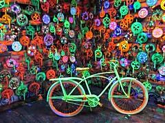 IMG_0262 (bgoodtrek) Tags: bike bicycle bikes cool neon blacklight colors crank sprocket