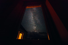 The Milky Way from the window (Tim Bow Photography) Tags: timbowphotography wales welsh british isleofskye airglow milkywayisleofskye landscape skyscape astrophoto astrophotography colour star stars shootingstars 2016 travel uk timboss81 window milkywayfromthewindow building amazing scotland nature beautiful