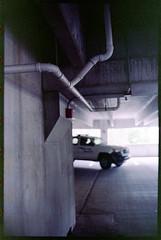 Oops. That's security. (FreezerOfPhotons) Tags: olympus35sp konica160procolorfilm homec41 unicolorc41