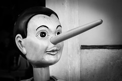 Pinnocchio (King Grecko) Tags: 5dmk3 bw carving italia pinocchio story traditional black blackandwhite canon contrast eos5dmk3 fable fairytale highlight italian italiana italy lightroom nose puppet rome shadows shape toy white