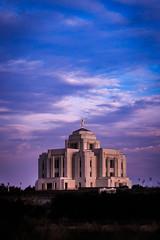 Meridian LDS Temple 5 (Matt Barlow Photography) Tags: temple boise meridian mormon lds thechurchofjesuschristoflatterdaysaints moroni angel sunset light