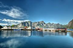 Lofoten fishing center at  Hamnoya, Norway (Wayne~Chadwick) Tags: lofoten norway