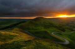 Rushup Edge with Golden Grass (DuncanTyson) Tags: derbyshire district landscape mamtor peak sunset