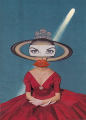 Official Portrait of Queen Saturna (Angie Naron) Tags: art collage collagebyangienaron thekollagekit wwwkollagekitblogspotcom queensaturna saturn halleyscomet alienqueen dada surreal surrealism