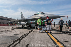 180th Fighter Wing - 2016 Thunder Over Michigan Air Show (mikelynaugh) Tags: thunderovermichigan airshow tom2016 2016tom tom ypsilanti michigan mi airshowphotos photos photosof mikelynaugh lynaugh aviation yankeeairmuseum willowrunairport willowrun 180thfighterwing 180fw toldeo ohioairnationalguard maumee ohio f16 f16viper f16fightingfalcon stingers