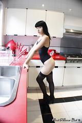 Mew ( Johanna Najera  oni hime cat ) Tags: mew hopeful suicidegirls model ink tattoo dark black mexican girl