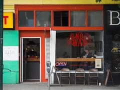 No Way Cafe (Photocatvan) Tags: urban city east vancouver mainstreet cafe former barber shop storefront