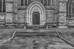 Behind closed doors-2 (jodee1kenobi) Tags: architecture blackwhite church cathedral worcestercathedral