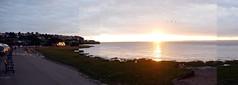 Portishead Panorama (with glitch) (the justified sinner) Tags: justifiedsinner portishead somerset beach sea panorama night evening sunset panasonic 17 20mm gx7