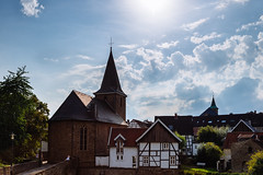 Blankenstein (mkniebes) Tags: blankenstein hattingen city church clouds halftimbered summer sun historic medieval cityscape