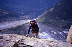 Jean-Michel, Always Looking Upwards (andywalker1) Tags: andrewwalker americandirect dru petitdru chamonix alps alpineclimbing