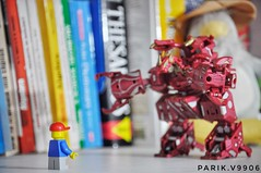 Hello Dragonoid! :-) (parik.v9906) Tags: greetings vignette fun 365days 365project days 365 legos d90 nikon you dragon bakugan minifigure minifig lego