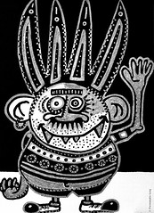 Cor de monstre 01 (Fernando Laq) Tags: monster monstruo monstre dibujo dibuix bn grises