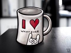 #115 - Cup (J-T-M) Tags: mug coffee hart whatever rabbit drawing illustration