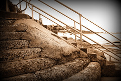 Stairs (Peter_Australis) Tags: cronulla ocean baths seabath seawall concrete stairs railing repair cracked rough