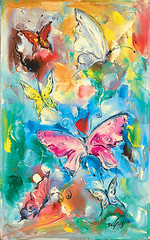 "DeGrazia's ""Butterflies"" (DeGrazia Gallery in the Sun) Tags: teddegrazia degrazia ettore ted artist galleryinthesun artgallery gallery nationalhistoricdistrict foundation nonprofit adobe architecture tucson arizona az desert paletteknife oil painting butterflies santacatalinas"