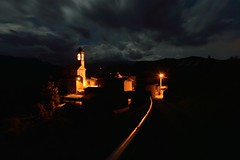 Lovetti by night (mttdlp) Tags: night nightscape storm clouds notte nuvole montagna appennino d3200 chiesa church