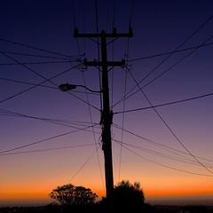 Sunsets Give Me Power (Zee Jenkins) Tags: silhouette streetlight powerlines telephonepole nighttime night dusk evening outdoor sanfrancisco ocean sf sunset simplyirresistible flickrfriday