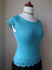 Spring Garden Tee by Alana Dakos (LucciolaS) Tags: summer knitting lace silk topdown raglan tee seamless pullover gardentee