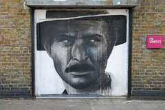 Graffiti (Ben Slow), Unit door, Old Ford, Hackney, London, England. (Joseph O'Malley64) Tags: england streetart london graffiti mural murals hackney olympics oldford towerhamlets olympicsite wallmurals 2012londonolympics