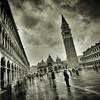 Piazza San Marco, Venezia (violinconcertono3) Tags: venice blackandwhite italy rain square landscapes flickr fineart cityscapes landmark tourists historic venezia crowds sanmarco fineartphotography stmarkssquare davidhenderson fineartphotographer londonphotographer 19sixty3 19sixty3com