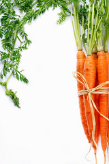Carrots. (ZakariaSnow) Tags: summer food orange white green season leaf salad juicy healthy colorful raw natural bright market farm background young harvest tasty vegetable fresh vegetarian carrot bunch organic diet root heap ripe nutrition ingredient vitamin carotine
