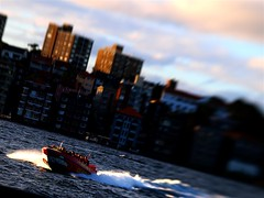 shark boat (terrybiky) Tags: water lensbaby speed shark boat jet sydney olympus quay e3 circular
