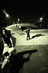 park at night (minus6 (tuan)) Tags: park street bw night voigtlander homeless highiso babycarriage heliar parkatnight nightconcert 15mm45 minus6 streetpassionaward nex7