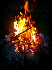 Fire (Ethan. P) Tags: hot fun fire flames soon burnies verywarm nanandgrandads flickrandroidapp:filter=berlin