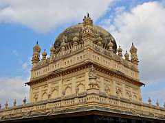 In memory of.... (I Nair) Tags: travel india monument architecture clouds day cloudy bluesky mausoleum historical mysore travelogue in