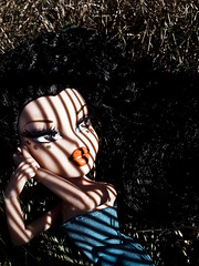 "Week 17 - ""Stuck in the Shadows"" option 2 - Silvia (Pinky Bratz) Tags: pink blue light sun hot beautiful beauty grass lines fashion rock america outside photography photo high model doll pretty shoot dolls shadows dress photoshoot modeling top gorgeous models makeup pinky lips next vogue stunning lip americas brats bratz dollz modelz bntm dntm bntsm"