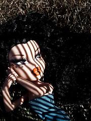 "Week 17 - ""Stuck in the Shadows"" option 2 - Silvia (Pinky Bratz) Tags: pink blue light sun hot beautiful beauty grass lines fashion rock america outside photography photo high model doll pretty shoot dolls shadows dress photoshoot modeling top gorgeous models makeup pinky lips next vogue stunning lip americas brats bratz dollz modelz bntm dntm bntsm"